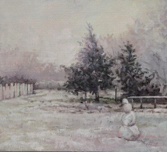 Back Garden Snowman