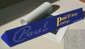 Artist Paul D'Arcy presentation box
