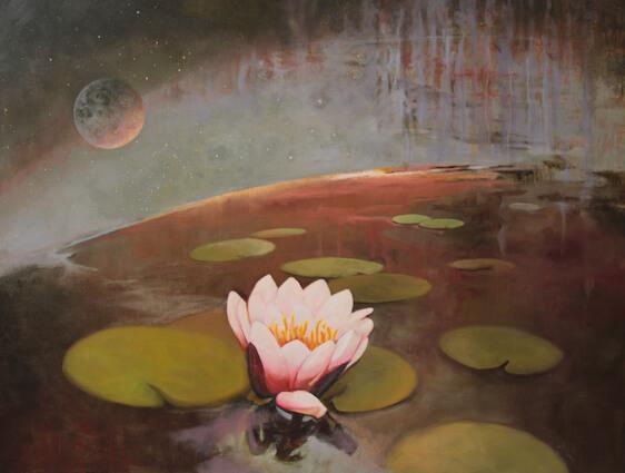 Crack Of Light On A Lily Pond