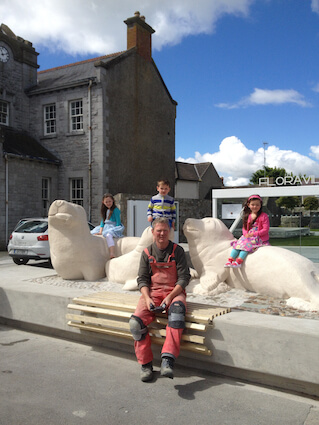 Floraville Skerries Seals Living Sculpture by Paul D'Arcy