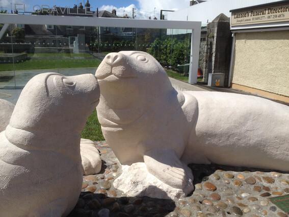 Floraville Skerries Seals Sculpture by Paul D'Arcy
