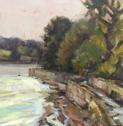 Malahide Estuary, Swords Oil on Board . . . . . 10 X 10 inches