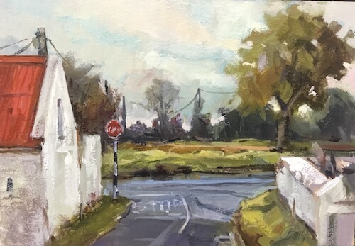 Glasshouse Corner Baldungan, Skerries Oil on Board . . . . . 7 X 10 inches