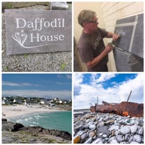 artist paul darcy on aran island inisheer