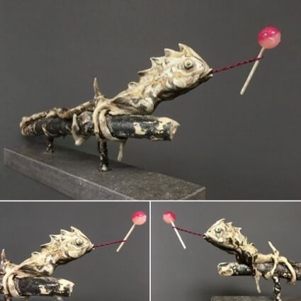 Lollipop Lizard by artist Paul D'Arcy